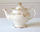 Reserved for M/Tea Pot, Rare Antique Footed Genuine James Sadler Tea Pot with Lid Tea Party, Made in England - c. 1947+