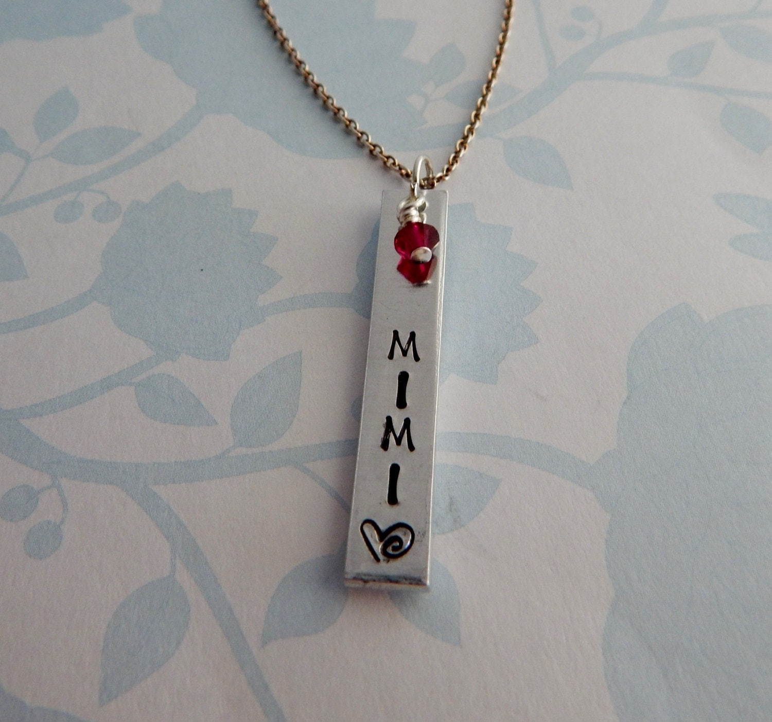 mimi necklace custom sted bar necklace with