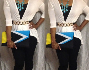 St. Lucia Flag Clutch