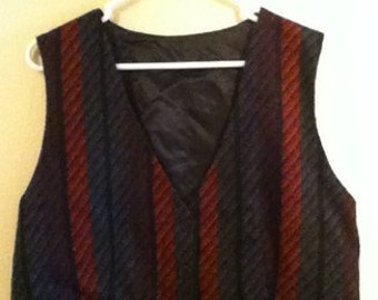 Multi-colored Striped Vest