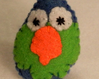 Parrot Cutie Catnip Toy - Hand Cut & Sewn - You Pick The Color