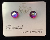 Mini Post Dichroic Earrings
