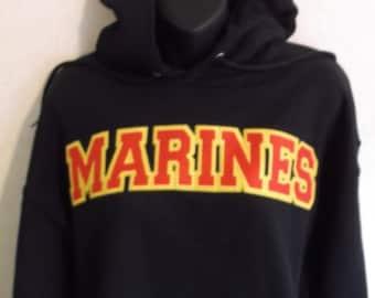 marine hoodie, military hoodie, black hoodie, gray hoodie, neon green hoodie, marine sweatshirt, marine shirt, patriotic hoodie, patriotic