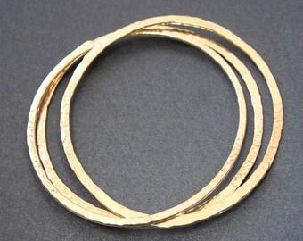 Set of 3 hammered bangles Bracelet 28