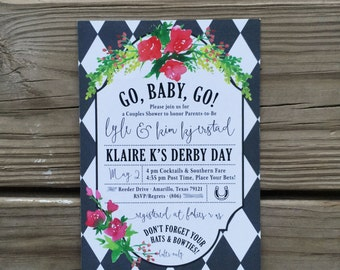 Kentucky Derby - Baby Shower Invitations - Printable Digital File