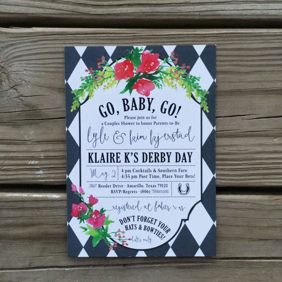 Kentucky Derby Baby Shower Invitations Printable Digital