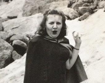 Snowball Fight Vintage Photo