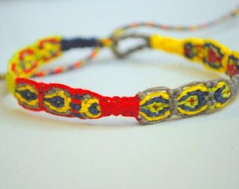 Clearance!! Bright Macrame Friendship Bracelet