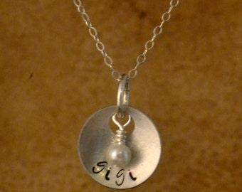 next day shipping personalized gigi jewelry, grandmother necklace, custom name pendant