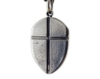 Shield with Cross - silver