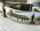 "Taz is the Walking Dead 1"" Buckle collar"