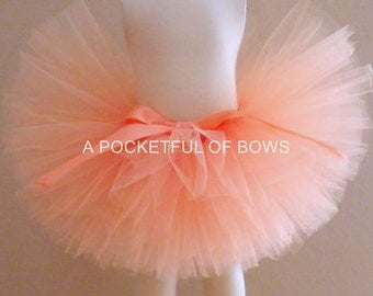 Peach Tutu Skirt, Toddler Tutu, Peach Birthday Tutu