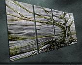 "Original Handmade Metal Wall Art Modern Abstract Painting Sculpture Indoor Outdoor Decor ""Tree of Life"" by Ning"