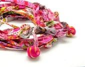 Boho headband, Pink headband, Women's hair band, Cotton headband, Workout headband