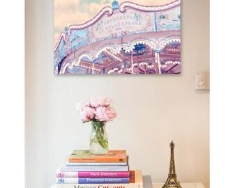 Paris nursery decor - Carousel print, Paris Art