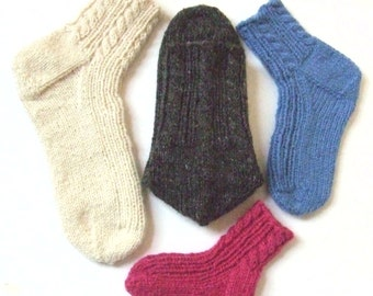 Knitting Pattern For Ski Socks : INSTANT DOWNLOAD PDF Vintage Knitting and Crochet Pattern Slippers Moccasins ...