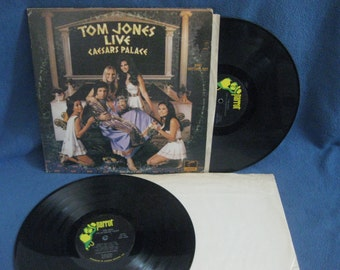 "Vintage, Tom Jones - ""Live Caesars Palace"", Vinyl 2 LP Set, Record Album, Original First Press, It'[s Not Unusual, Delilah, Soul man"
