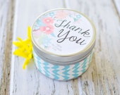 """Say """"Thank You"""" Custom Gift Soy Candle-You choose the scent //custom gift // Thank you gift // Appreciation Candle"""