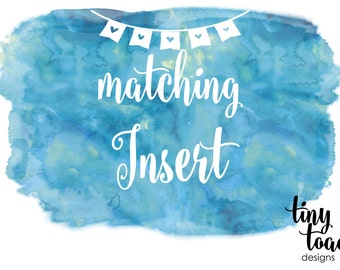 Insert to match any item by tiny toad designs for baby shower, bridal shower, DIY Printable, digital file