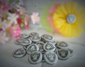 RAIDERS Buttons - RAIDERS Flatback - 30mm Buttons