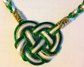 Premium Celtic Heart Handfasting Cord with Metallic Cord(5 cords, 3 stain, 2 metallic)