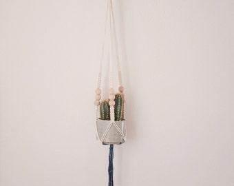 Mini Macrame Plant Hanger - Indigo