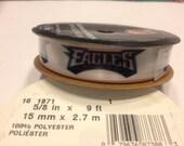 9 feet Philadelphia Eagles Football ribbon, 5 / 8 wide (BB3)