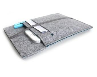 iPad Cover, iPad Case, iPad Mini Cover, iPad Mini Case, iPad Air Case, iPad Pro Case, iPad 2, iPad 3, iPad- Light Grey & Petroleum Blue