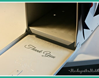 Thank You Decal to add to your Wedding Mailbox