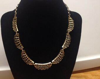 Vintage Goldtone Design Necklace