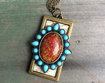 Southern Star Necklace/Southwestern/PendantAztec/Tribal