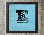 Vintage Look Letter Print - Perfect for a Gallery Wall! 12x12, 8x8, 5x5, and 3x3 Sizes available!