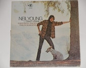 Neil Young with Crazy Horse - Everybody Knows This Is Nowhere - Original Reprise Records W7 Label 1969 - Vintage Vinyl LP Record Album