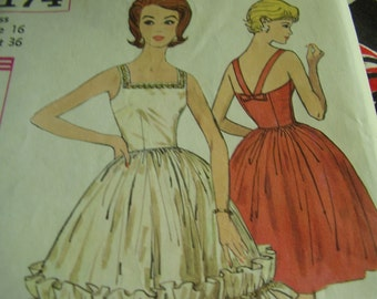 Vintage 1960's Simplicity 4174 Evening Dress and Jacket Sewing Pattern, Size 16, Bust 36