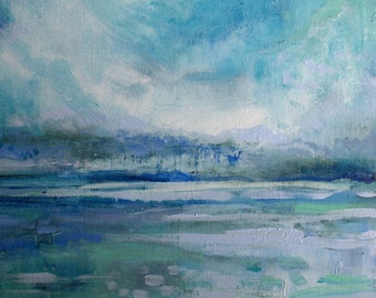 Grayton Beach Coastal-- Impressionist Painting of landscape--