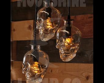 Skull Bottle chandelier 3-Light Pendant