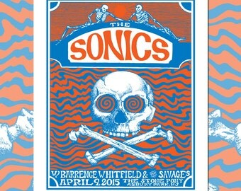 The Sonics Stone Pony concert poster by Nathaniel Deas