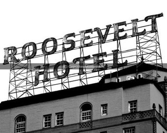 """Los Angeles """"Roosevelt Hotel"""" Black and White Fine Art Photograph"""