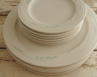Syracuse Pottery Dinner Plates and Salad Plates Diner MADE IN USA