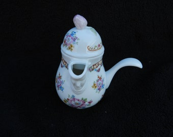 Pitcher: Hand decorated syrup pitcher