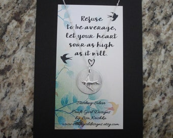 Refuse to be average, let your heart soar as high as it will