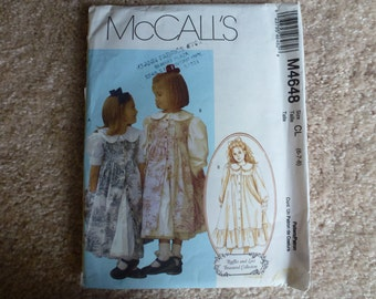 McCall's Ruffles and Lace Treasured Collection Children and Girl's Dresses and Pinafore Sizes 6-7-8