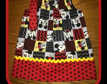 Comic Strip Mickey Mouse Pillowcase Dress ready to ship  size12 months