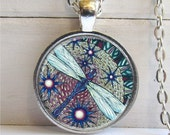 Dragonfly Pendant, Art Pendant, Whimsical Dragonfly Necklace