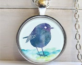 Bird Necklace, Blue Bird Pendant, Bird Lovers Gift, Bird Jewelry, Little Bird Pendant