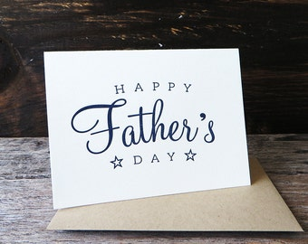 Vintage Father's Day Letterpress Card