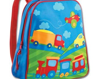 Personalized Stephen Joseph Go Go Transportation Backpack