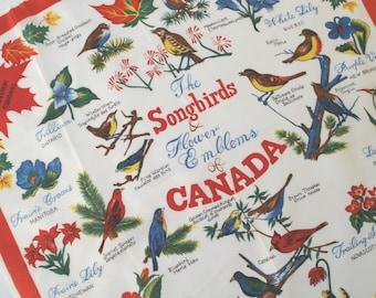 60s Souvenir Scarf of Canada