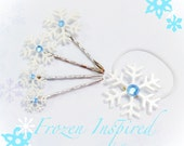 Snow Flake Hair Pins Frozen Inspired Elsa Bobby Pins ON SALE