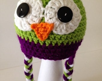 Lime Green Owl Hat